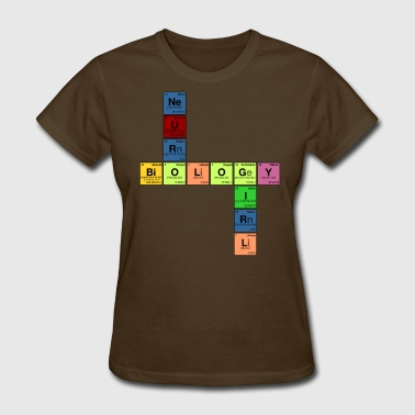 NEURO BIOLOGY GIRL - Periodic Element Scramble - Women's T-Shirt