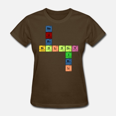 Neurobiology NEURO BIOLOGY GIRL - Periodic Element Scramble - Women's T-Shirt