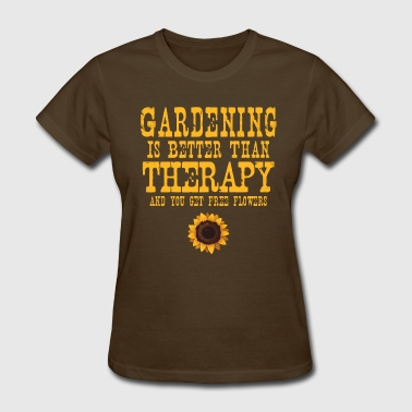 Older Than Dirt Gardening Therapy Flowers - Women's T-Shirt