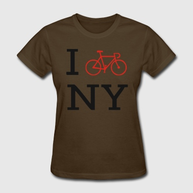 Bike Symbol I bike NY Funny Bike - Women's T-Shirt