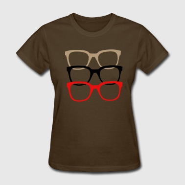 Nerdy Glasses Multi color - Women's T-Shirt