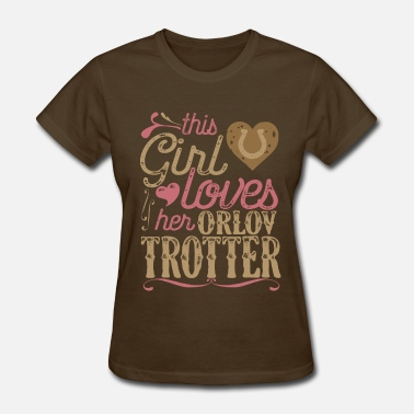 Trotter This Girl Loves her Orlov Trotter - Women's T-Shirt