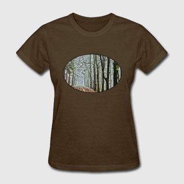 Forest - Nature - Park - Trees - Rural - Dirt Road - Women's T-Shirt