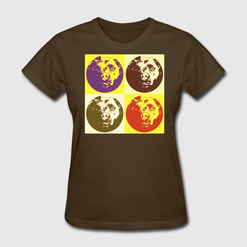 Vintage quad Staffy - Women's T-Shirt