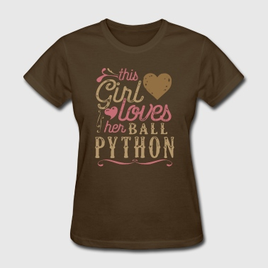 This Girl Loves Her Ball Python Snake Reptile - Women's T-Shirt