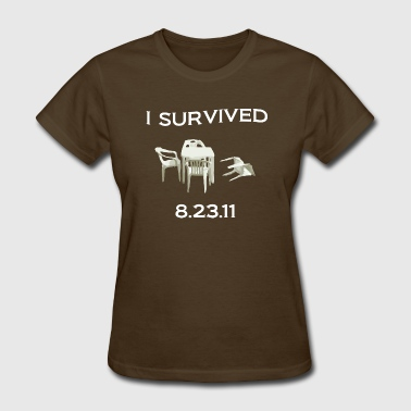 East Coast Earthquake: I Survived 8.23.11 - Women's T-Shirt