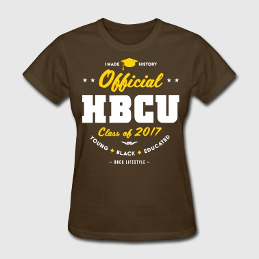 Official HBCU Class of 2017 - Women's Gold, White  - Women's T-Shirt