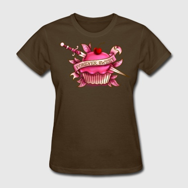 Cupcake Tattoo Forever Sweet Cupcake Tattoo- Pink - Women's T-Shirt