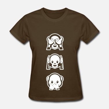 Sms Emoticon Monkeys invert - Women's T-Shirt
