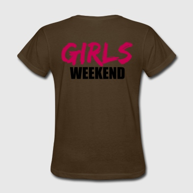 weekend weekend girls trip vacation fun travel wom - Women's T-Shirt