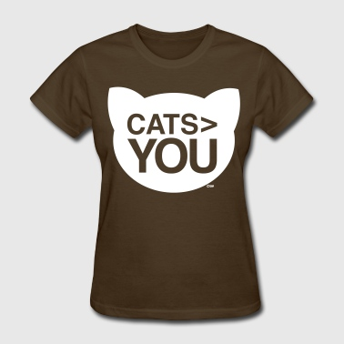 cats greater than you Cat Versus Humans mp - Women's T-Shirt