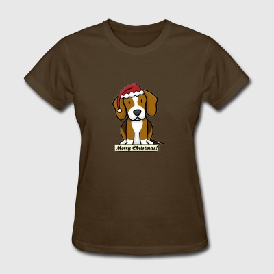 Beagle Merry Christmas Shirt - Women's T-Shirt
