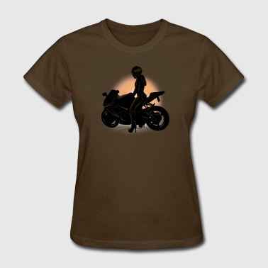 motorcycle girl - Women's T-Shirt