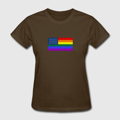 LGBT PRIDE USA rainbow flag - Women's T-Shirt