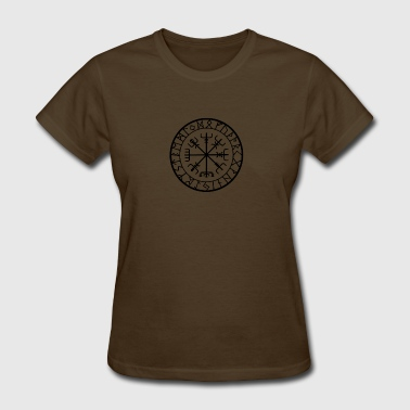 IKING WIKINGER PROTECTION RUNES COMPASS TALISMAN - Women's T-Shirt