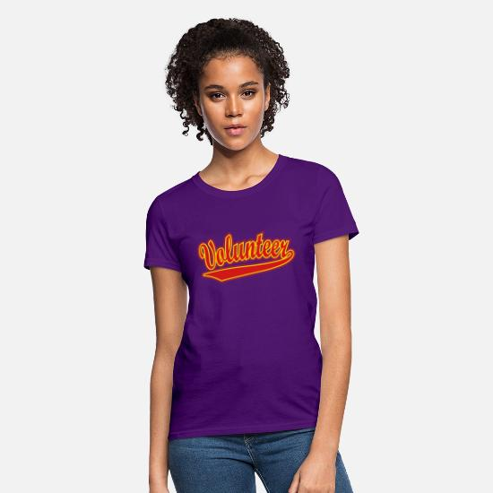 Helper T-Shirts - Volunteer - Women's T-Shirt purple