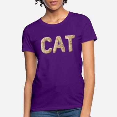 The Cat  with furr letters - Women's T-Shirt