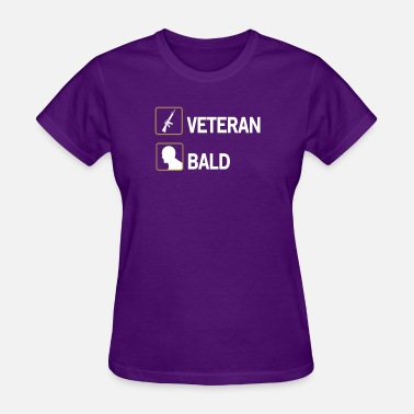Lover Bald FUNNY VETERAN BALD GIFT ARMY AMERICA LOVER - Women's T-Shirt