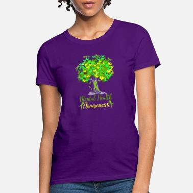 Health Mental Health Awareness Shirt Warrior Tree Hope An - Women's T-Shirt
