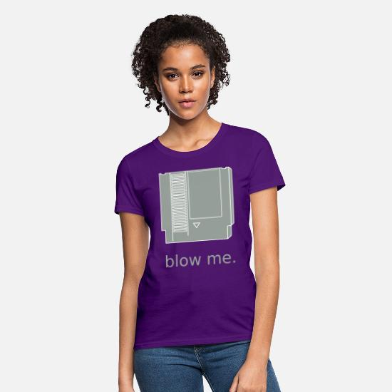 Blasen T-Shirts - blow_me - Women's T-Shirt purple
