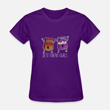 Peanut Butter And Jelly BEST FRIENDS - PEANUT BUTTER AND JELLY - Women's T-Shirt