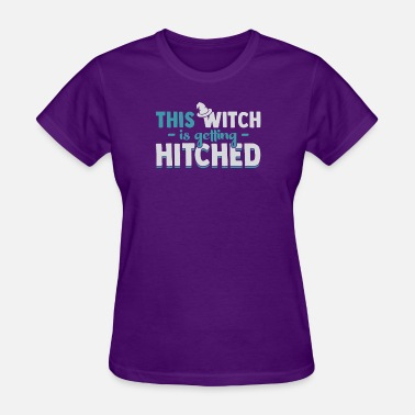 Get Hitched This Witch is getting Hitched funny halloween quot - Women's T-Shirt