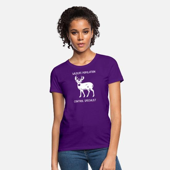 Dog T-Shirts - Hunting Wildlife Population Control Specialist Hunter Gift - Women's T-Shirt purple