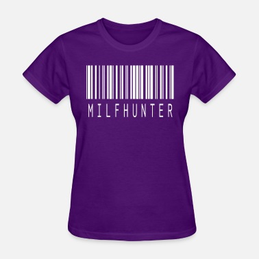 Erotic Quotes MILFHUNTER BARCODE WHITE - Women's T-Shirt