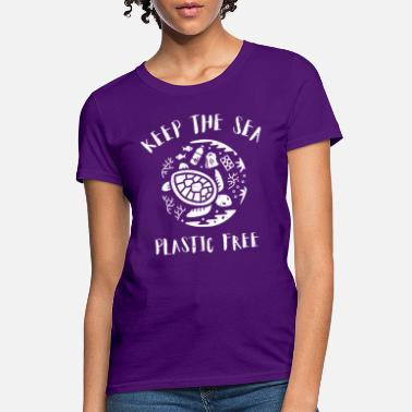 Pollution Turtle Keep The Sea Plastic Free - Women's T-Shirt
