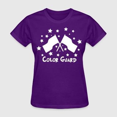 color guard flag stars - Women's T-Shirt