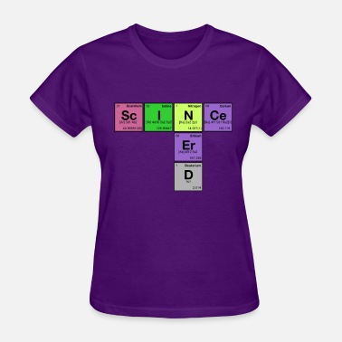 Nerd Element SCIENCE NERD! Periodic Elements Scramble - Women's T-Shirt
