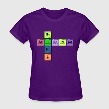 SCIENCE GIRL! - Periodic Table Scramble - Women's T-Shirt