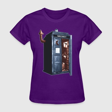 Tardis Outhouse-RB-Rev3.png - Women's T-Shirt