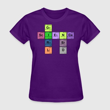 Nerd Element science girl nerd - periodic element scramble - Women's T-Shirt