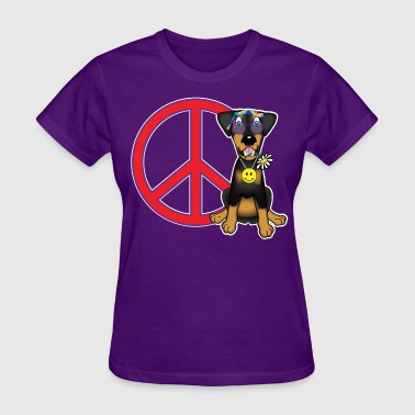 Retro Doberman Hippy from 60s - Women's T-Shirt