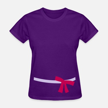 Feminine Side Asymmetric Ribbon Belt - Women's T-Shirt