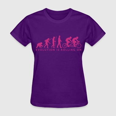 Evolution tandem bicycle - Women's T-Shirt