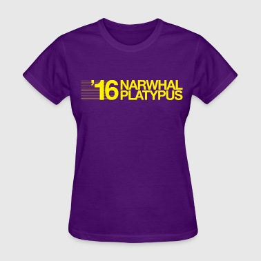 Narwhal + Platypus 2016 Yellow - Women's T-Shirt