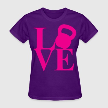 I Love Fitness (Kettlebell) - Women's T-Shirt