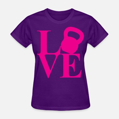 Kettlebell Cross Fit I Love Fitness (Kettlebell) - Women's T-Shirt