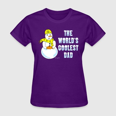 World's Coolest Dad White Text - Women's T-Shirt