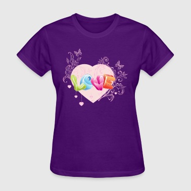 valentines day heart 100 - Women's T-Shirt