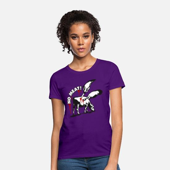Vegan T-Shirts - NO MEAT! - Women's T-Shirt purple