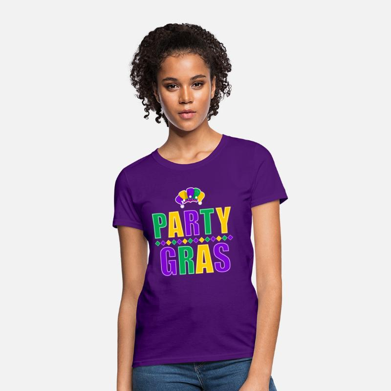 Mardi Gras T-Shirts - Party Gras Mardi Gras - Women's T-Shirt purple