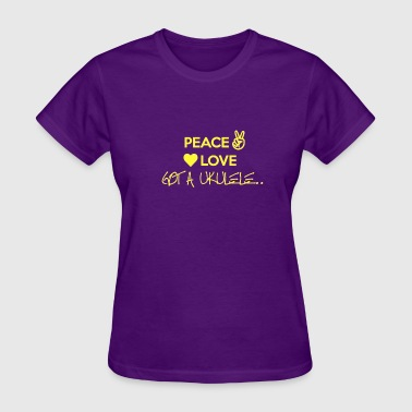 Peace Love Got A Ukulele - Women's T-Shirt