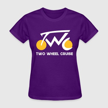 The Vlog Life Two Wheel Cruise (white text) - Women's T-Shirt