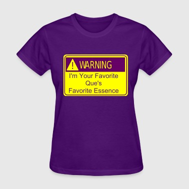 Purple and Gold Warning Sign - Women's T-Shirt