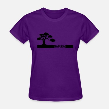 Organic Cotton Nature Natural, natural tree shape on grader. - Women's T-Shirt