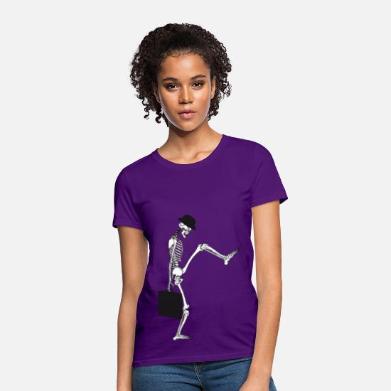 Silly T-Shirts - death silly walking mans - Women's T-Shirt purple