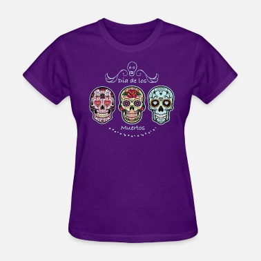 Mexico Day Of The Dead Sugar Skulls - Women's T-Shirt